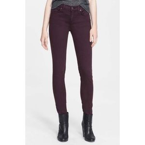 Rag and Bone skinny jean in wine
